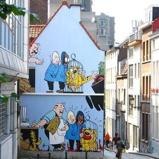 Parcours BD a Bruxelles.